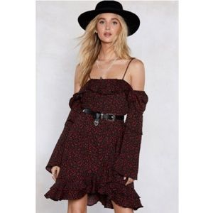 Nasty Gal Sleeve It at That Floral Dress US 8